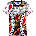 Fashion 3D Graphic Funny Poker Print T-Shirts Playing Cards King And Queen Couple Tee Shirts Casual Short Sleeve Tops Plus Size