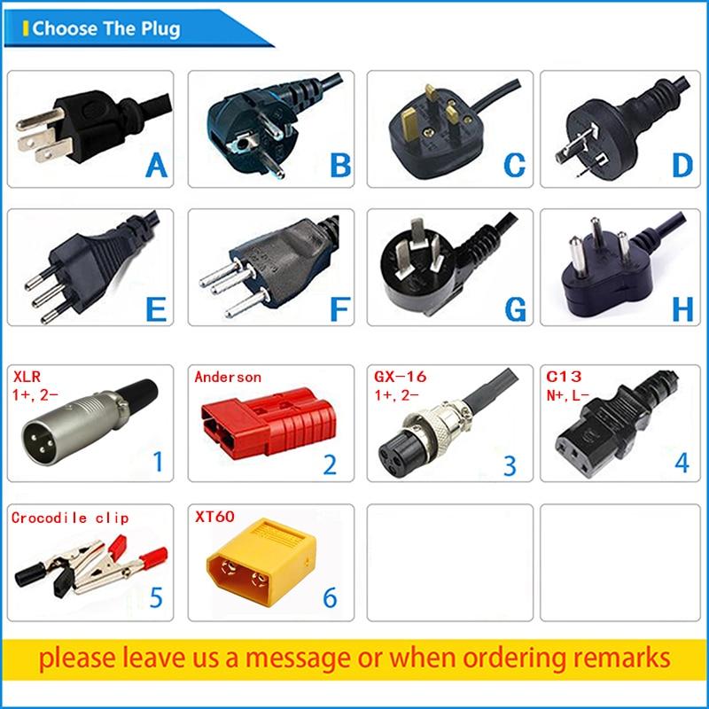 Cargador inteligente de batería LiFePO4 de 29,2 V y 12A de 24V para Robot LiFePO4 de 8S y 24 V, Cargador eléctrico de batería para silla de ruedas - 6