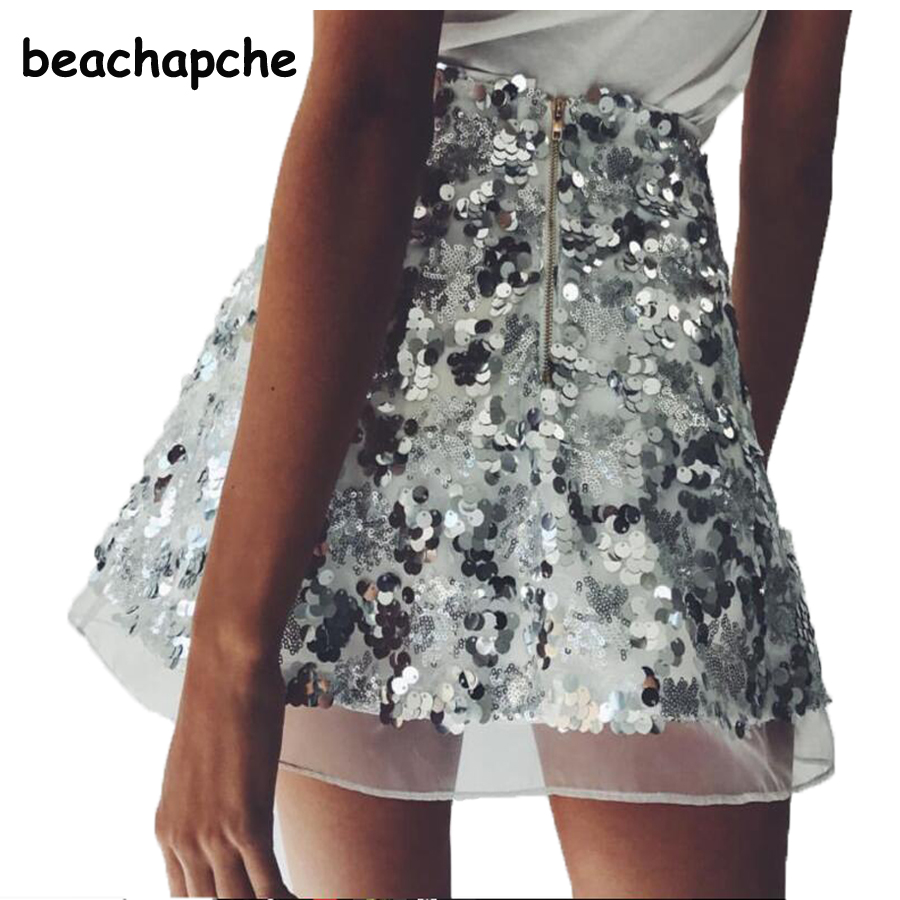 Popular Silver Sequin Mini Skirt-Buy Cheap Silver Sequin Mini ...