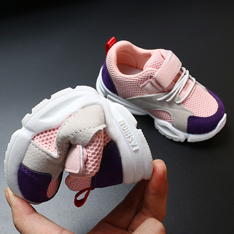 Купить с кэшбэком COZULMA Baby Shoes Girls Boys Breathable Sport Shoes Toddler Kids Sneakers Children White Pink Red Outdoor Casual Shoes Sneakers