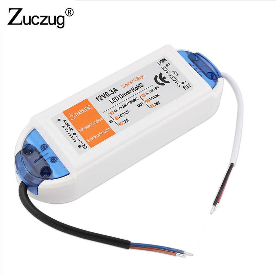 Светодиодный адаптер питания 12 В постоянного тока, 18 Вт, 36 Вт, 72 Вт, 100 Вт, трансформаторы, светодиодный драйвер, Светодиодная лента, 12 В постоянного тока, адаптер питания