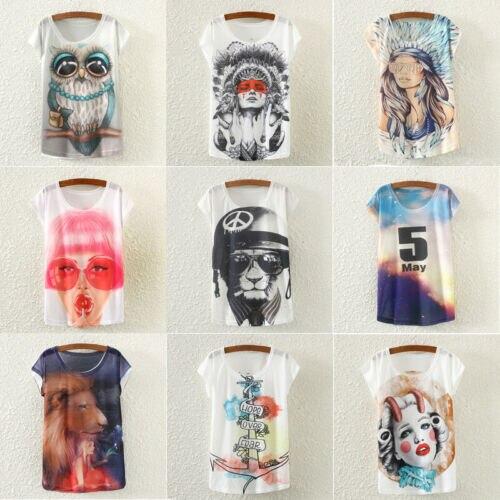 2019 новые женские модные летние футболки с принтом животных, один размер, свободные длинные футболки с коротким рукавом и круглым вырезом, по...