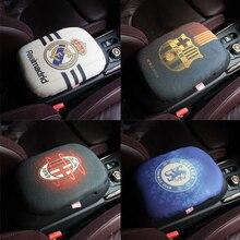 Linen Foam Car Armrest Pad Covers Universal Center Console Auto Seat Armrests Box Pading  Storage Protection Cushion Sport Fan
