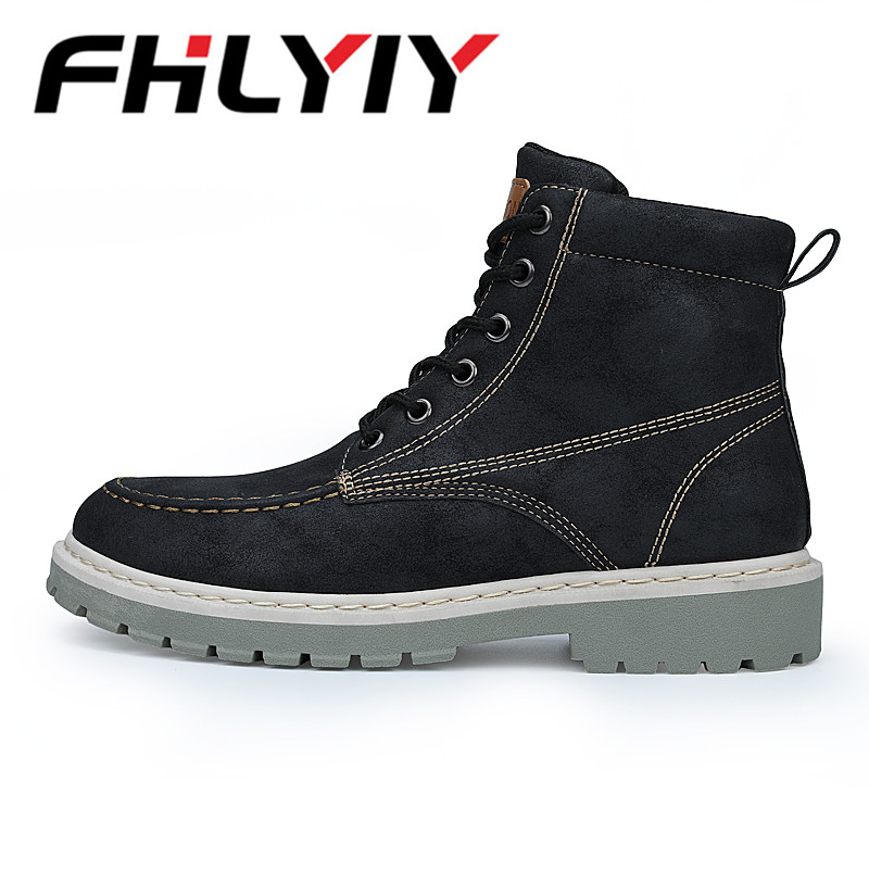 Men Ankle Boots Breathable Martin Boots Man Leather High Top Shoes Outdoor Casual Shoes Botas Homme Snow Boots Botas Hombre z suo genuine leather men boots fashion men martin boots high quality ankle boots man winter shoes botas hombre zs16508