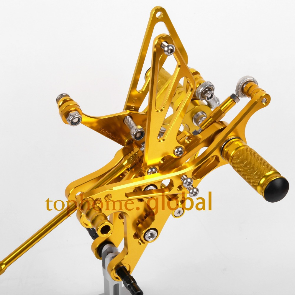 For YAMAHA YZF R1 2004 2005 2006 CNC Motorcycle Parts  Rearsets Foot Pegs Rear Set Gold full set 3pcs motorcycle new black gold 320mm 220mm front rear brake discs rotors rotor for yamaha yzf r1 2004 2005 2006 04 06