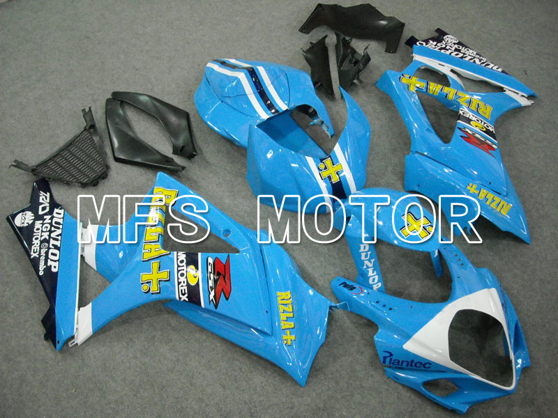For Suzuki GSXR 1000 K7 2007 2008 Injection ABS Fairing Kits GSXR1000 K7 07 08 - Rizla+ - Blue Motorcycle Accessories abs motorcycle parts for suzuki gsxr 1000 k7 k8 07 08 fairing kit gsxr1000 2007 2008 white silver black fairings set js87