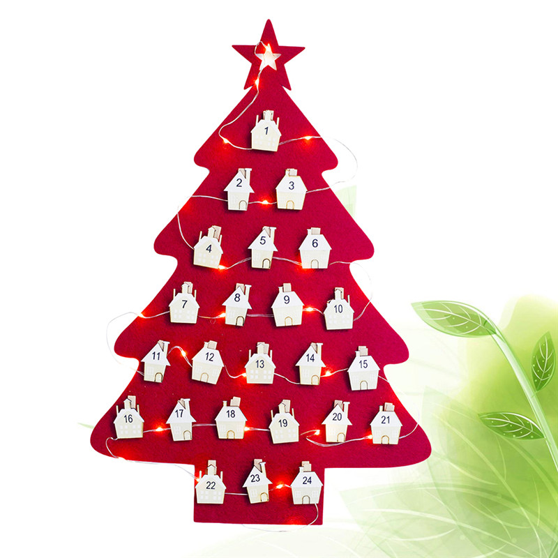 Hanging Christmas Advent Calendar Countdown To Christmas Tree Xmas Ornament Christmas Decorations For Home Party Supplies Advent Calendars Aliexpress