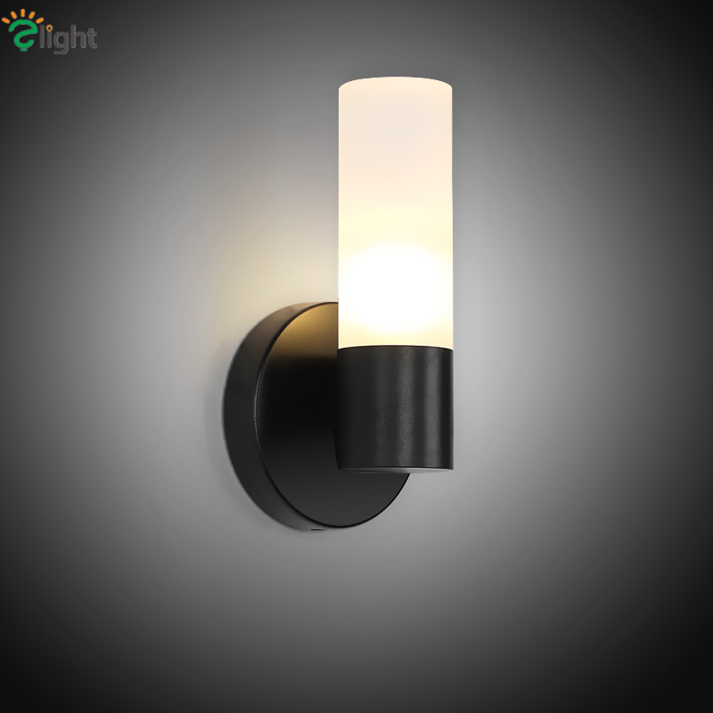Matte Black Metal G9 Led Wall Lamp Retro Industrial Lustre Acrylic Shades Wall Lamp American Deco Luminaira Indoor Lighting часы nixon corporal ss matte black industrial green
