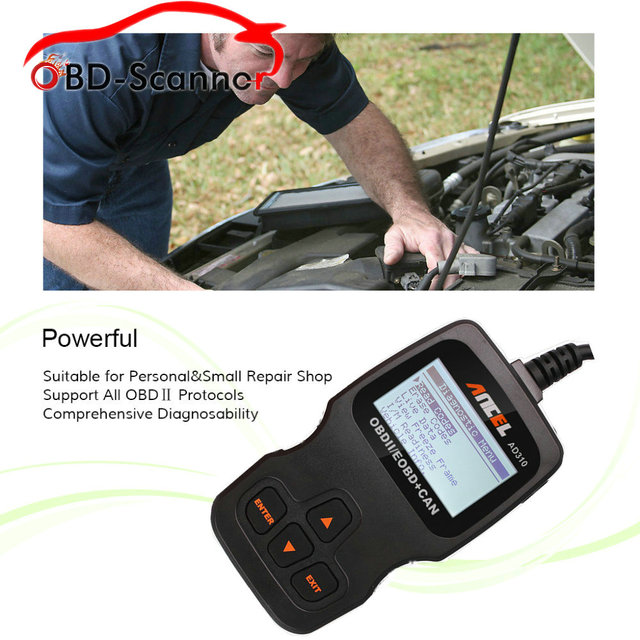 car scanners diagnostic in Russian Ancel AD310 diagnostic-tool EOBD Engine Code Reader Hand-held Tester Scanner Auto Car Vehicle