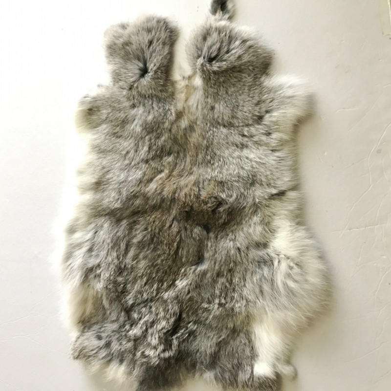 100% genuine rabbit fur rug , natural shaped real rabbit fur mat for furniture upholstery, DIY rabbit fur material