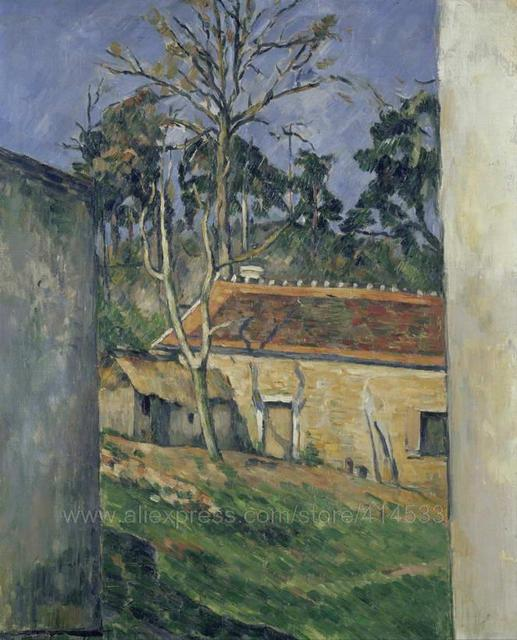 Paul Cezanne Farmyard 1877 Abstract Art Huge Wall Painting Bathroom Background Canvas Paintings Realistic Landscape