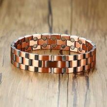 Модные ювелирные изделия медный цвет 2 стиля браслеты мужские