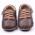 Fashion Baby Boy Shoes Leather Handmade Baby Toddler Hard Sole Prewalker Fancy Baby Boy Girl Shoes 0-15 Months