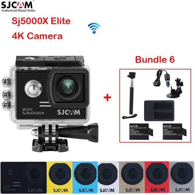 Original SJCAM SJ5000X Elite 4K WiFi 2'' Screen 30 Waterproof Sports Action Camera+2 battery+Charger+Monopod+Car Charger+Holder