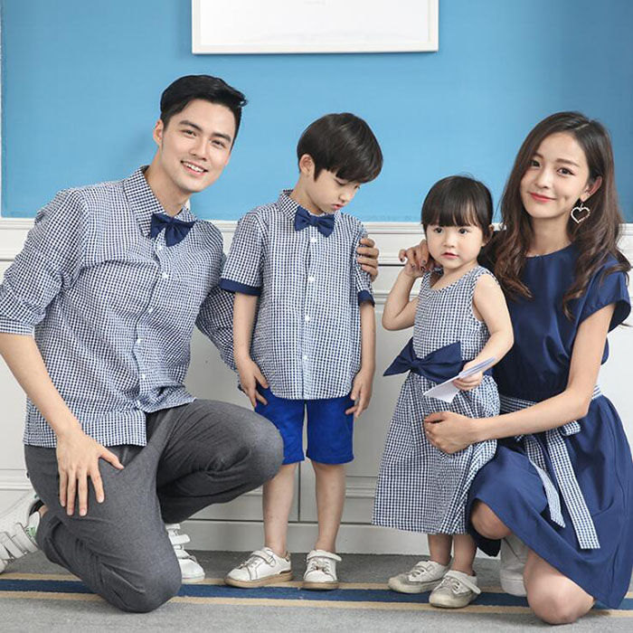 HTB1TYylP3HqK1RjSZFPq6AwapXaD - Family Matching Outfits Summer Fashion Plaid Shirt Outfits Mother And Daughter Dresses Father Son Baby Boy Girl Clothes