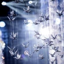 High quality European hummingbird transparent acrylic bird aerial ceiling home decoration hotel stage wedding props