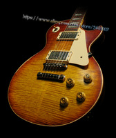 GC Custom Shop Phiên Bản Giới Hạn Billy Gibbons Pearly Gates Chuẩn Electric Guitar, Aged & Ký #6, di sản Cherry Sunburst