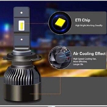 1pair  H4 H7 H11 H8 9005/HB3 9006/HB4 9012 2 H16 Car LED Headlight Bulb CSP Chip  Auto Headlamp LED Light 6000K