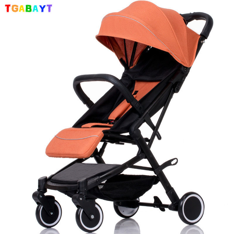 TGABAYT Baby Stroller Trolley Car Wagon Folding Baby Carriage Bebek Arabas Buggy Lightweight Pram baby Stroller china cheap lightweight baby stroller 5 9kg 7 free gifts folding carriage buggy pushchair pram newborn bb car shipping russia