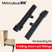 Meticulous 2pcs Folding seat Stool Bracket Hinge Wall Chair Hardware for Bedroom Cabinet Hidden Folding Stool Hinge Accessory