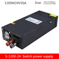 S 1200W 24V50A high power switching power supply 1200W industrial transformer 220 to 24 DC single group output