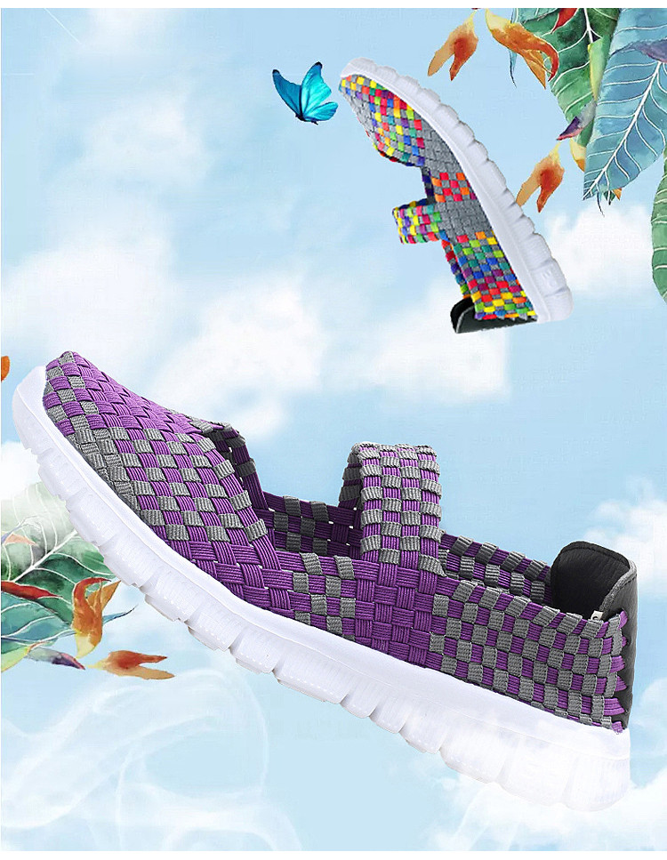QJ 599-2019 Breathable Women Summer Shoes Fabric Woman Flats-1