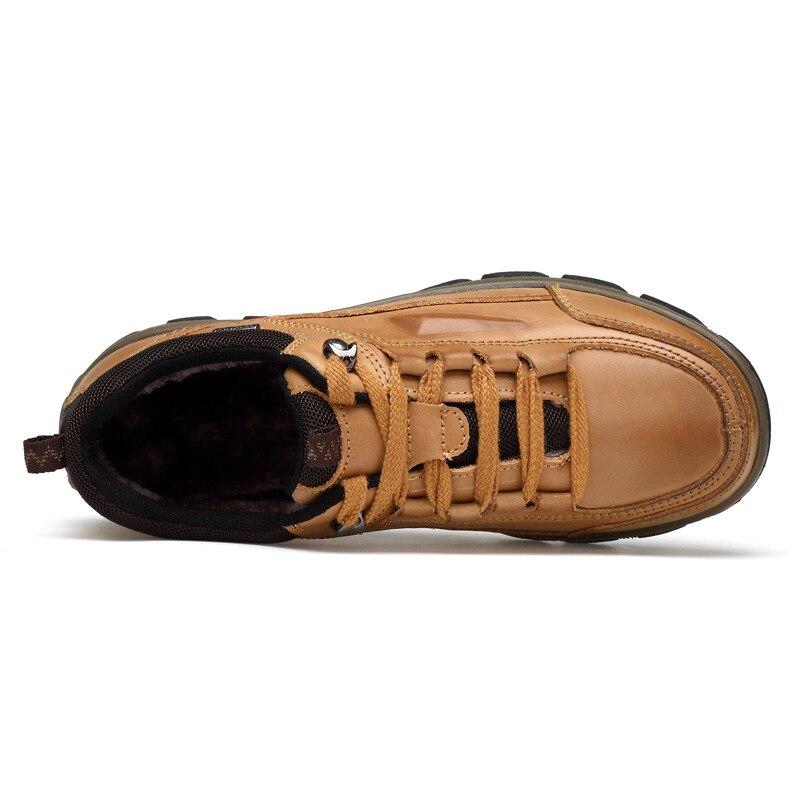 Et Shoes Vache Couche yellow Warm Main Air À Peau Nouveau Printemps Casual Automne De Yellow Single Shoe Plein Chaussures Des 2018 En brown Hommes Keep Grande Gamme Première Haut La Taille 16qAqwa