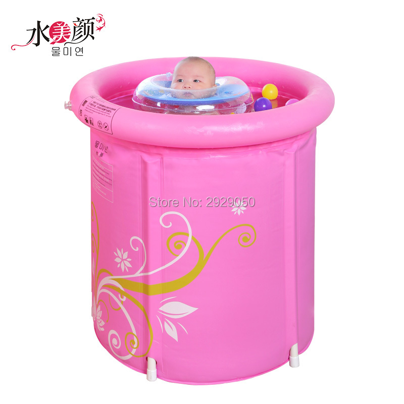 Water Beauty Folding Tub Bath Bucket Adult Bathtub Inflatable Bathtub Plastic Child Bath Thickening Bucket Bath Bucket