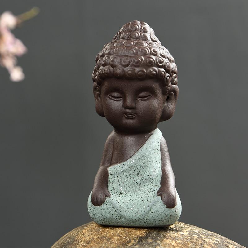 1 PCS Փոքր Բուդդայի արձանի վանական - Տնային դեկոր - Լուսանկար 5