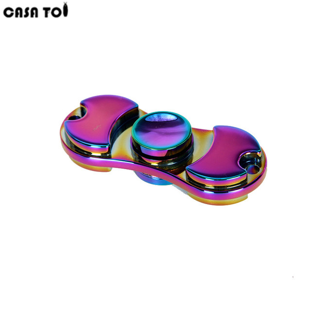 Colorful Hand Tri-Spinner Fidgets Toy EDC Sensory Fidget Spinners