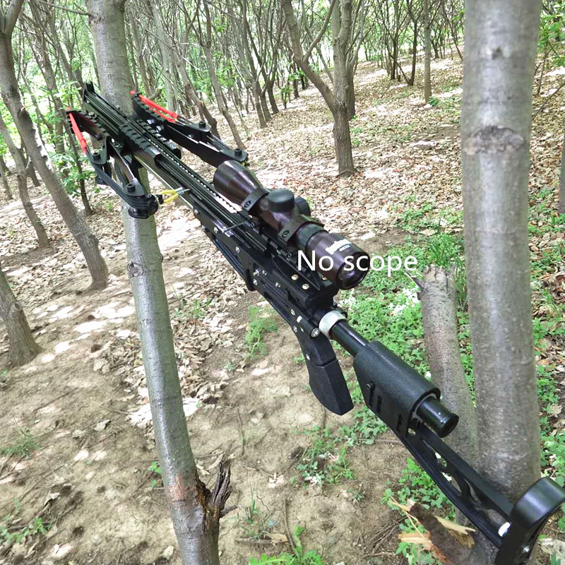 Powerful Neptune 15 Slingshot Rifle Metal Hunting Catapult Continuous Shooting 40-rounds Ammo And Arrow For Hunting And Shooting