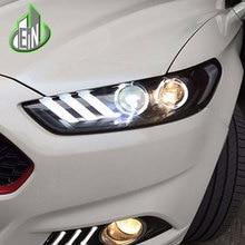 En стайлинга автомобилей для Ford Mondeo Фары для автомобиля 2013 2014 2015 Fusion светодиодные фары оригинальный DRL bi xenon объектив Высокая Низкая луч парковка