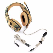 Classic style camouflage color E-sport game headphones wired control with Soft micphone bass stereo denoise HD Voice headset