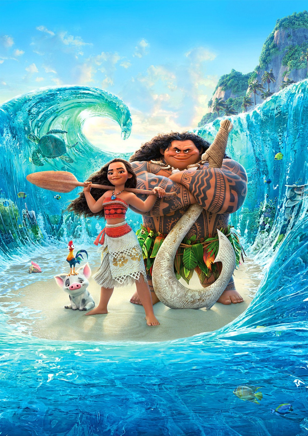 New Movie Moana 2017 Animated Adventure Kids SILK POSTER Decorative Wall Painting 24x36inch