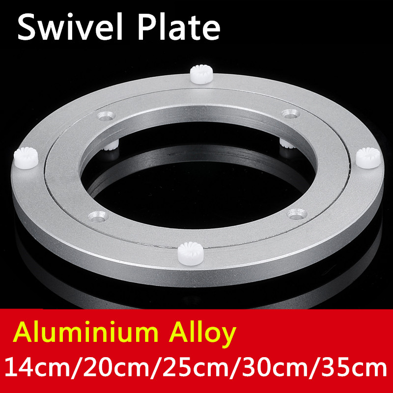 1pc 14cm/20cm/25cm/30cm/35cm/39.5cm Aluminium Alloy Small Lazy Susan Turntable Dining Table Swivel Plate for Kitchen Furniture