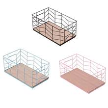 Square Basket Small Antique Iron Wire Storage Basket Ocean Ball Toy Fruit Vegetable Storage Basket(China)