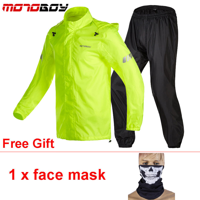 MOTOBOY Reflective Motorcycle Raincoat Jacket Pant Waterproof Suit Tuta Antipioggia Moto Chuva Motocicleta Racing Riding CyclingMOTOBOY Reflective Motorcycle Raincoat Jacket Pant Waterproof Suit Tuta Antipioggia Moto Chuva Motocicleta Racing Riding Cycling