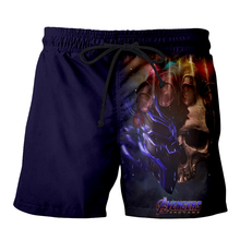 Skull Avengers Endgame 3D Print Men Summer marvel Casual Shorts Thanos iron man Beach Fitness elastic waist Sports Pants