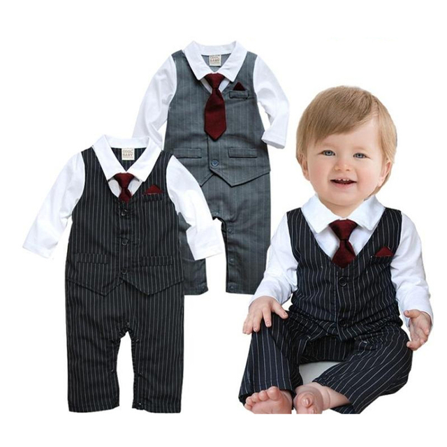 415387157cfc factory outlets 42734 69b36 2018 new design baby romper boys formal ...