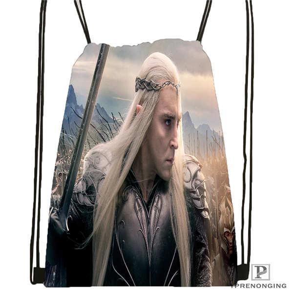 Custom The-Hobbit-Thranduil-and-Galadriel  Drawstring Backpack Bag Cute Daypack Kids Satchel (Black Back) 31x40cm#180611-01-40