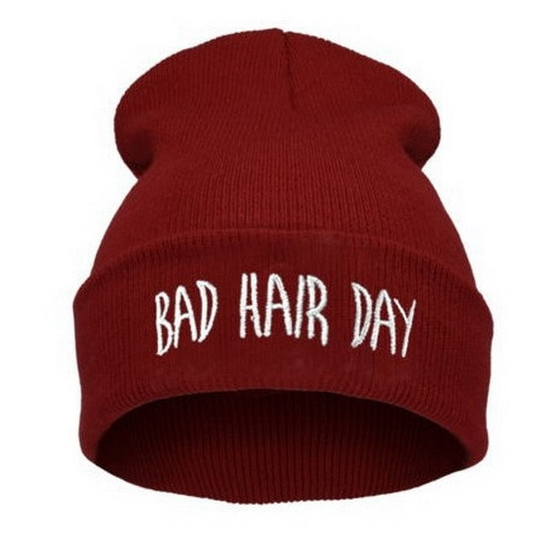 Bad Hair Day Winter Hat Beanie Cap Men Wowen Hat Beanie Knitted Hiphop Hats For Women Female Fashion Mask  Warm Caps