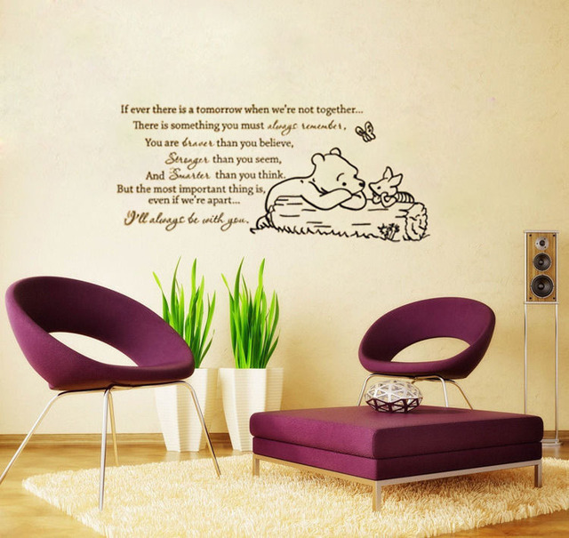 Classic Winnie The Pooh If Ever There Is A Tomorrow Baby Nursery Wall Decal  Bedroom Wallpaper Part 61