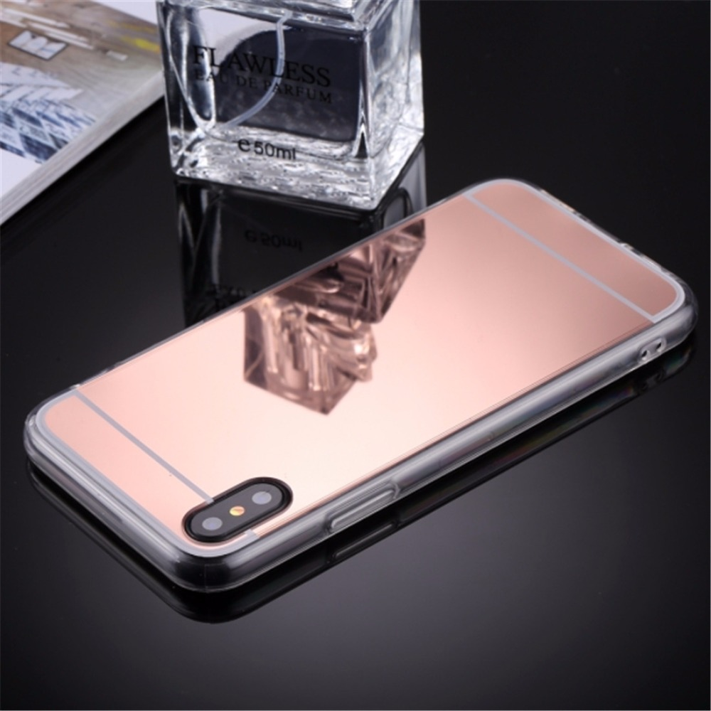 sale retailer 7c7db f5159 US $2.22 15% OFF|For iPhone X Acrylic + TPU Smartphone Case Electroplating  Mirror Protective Back Cover Case for iPhone X-in Fitted Cases from ...
