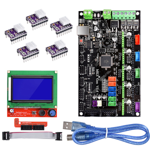 Image 2 - BIQU Bigtreetech MKS Gen V1.4 Control Board kit with 12864 LCD display TMC2130 TMC2208 A4988 DRV8825 stepper motor drive