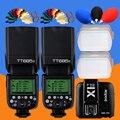 2x Godox TT685N 2 4G HSS 1/8000s i-TTL Беспроводная вспышка Speedlite + X1T-N передатчик для Nikon D7500 D5600 D810a D800 D500 D5 D4s