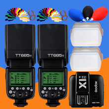 2x godox tt685 tt685n 2.4g wireless i-ttl  di sincronizzazione 18000 gn60 flash speedlitex1t-n-transmitter for nikon dslr camera