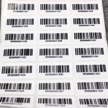 1000pcs 30x15mmBar code adhesive running number/Pipeline Numbers Barcode Inventory Stickers/Custom Adhesive paper sticker/