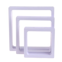 New Jewelry Box Display Storage Transparent Square Film Holder Frame Window Case(China)