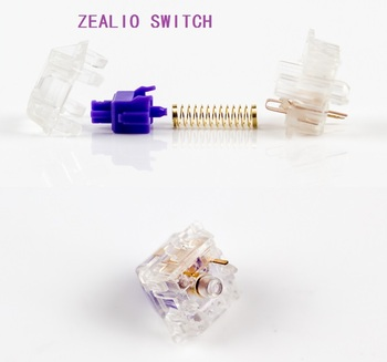 Zealio Switches (Tactile) Purple  62g 65g 67g 78g Clear transparent shell for mechanical keyboard