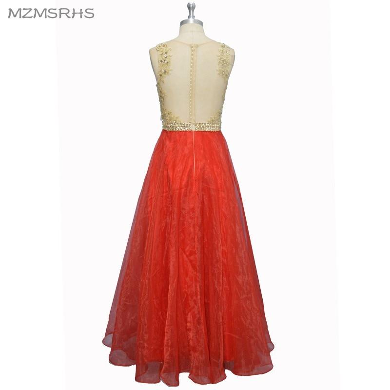 Sexy See Through Back Lace Prom Dresses Long 2017 Red Organza - Vestidos para ocasiones especiales - foto 2
